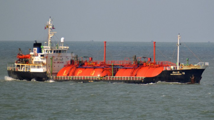 Explosion On Board LPG Tanker PATCHARAWADEE 12 in Gulf of Thailand Injures Four