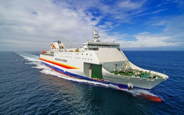 Hyundai Mipo christens car ferry ship serving Incheon and Weihai route