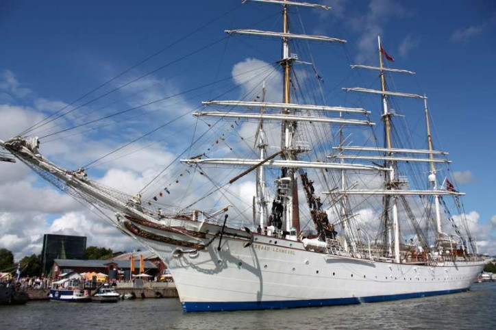 Historic military ship visits Baltimore's Inner Harbor