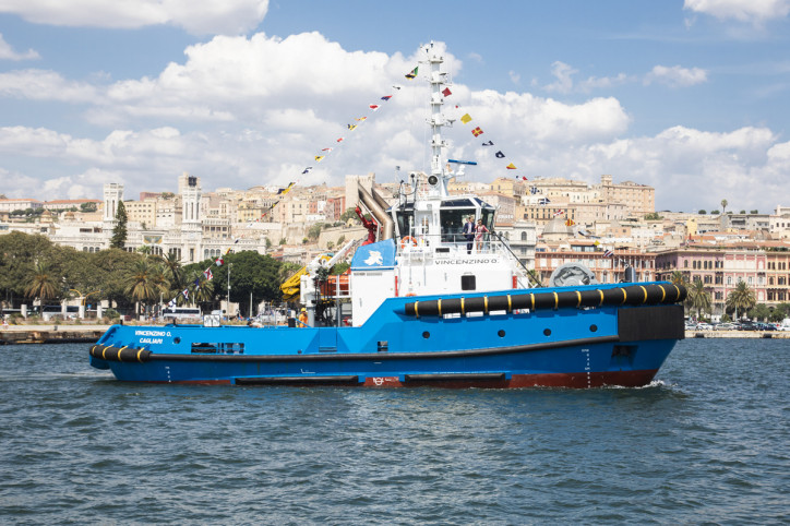 Moby names Damen ASD Tug 2813 'Vincenzino O.' in Cagliari