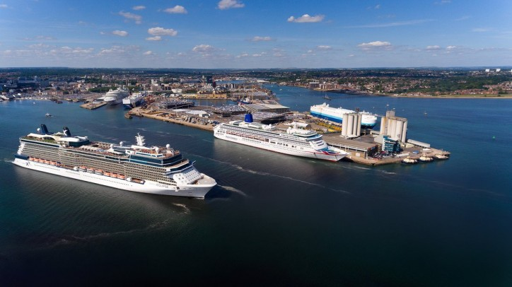 Ten cruise ships will call at the Port of Southampton this weekend