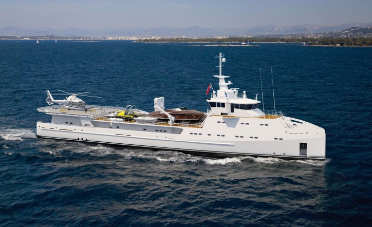 First Ever 69-meter Yacht Support Vessel With Helicopter Hangar Sold
