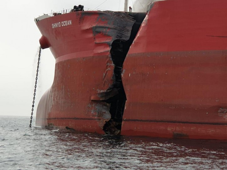 UPDATE: LNG Carrier Aseem Collides with VLCC Shinyo Ocean off Fujairah (VIDEO)