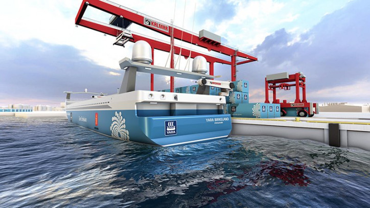 MacGregor automated mooring solution specified for the world's first autonomous and zero-emission container ship, Yara Birkeland