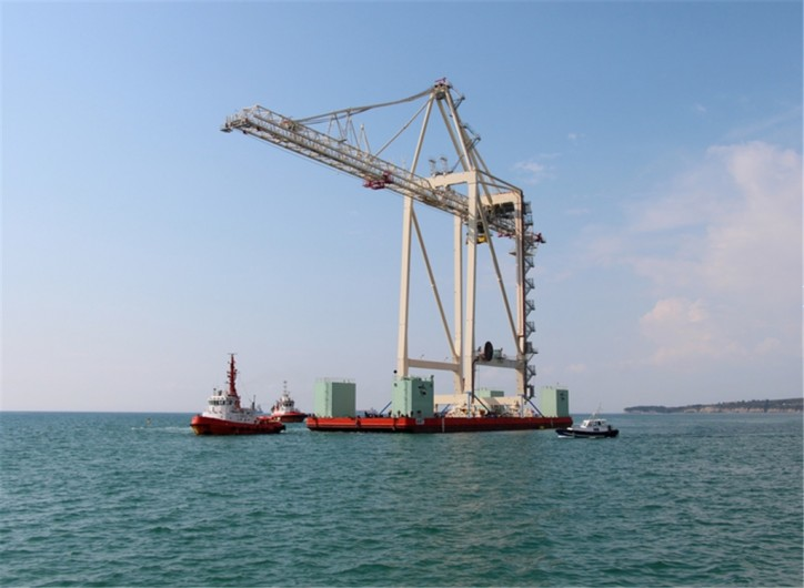 New Super-Post-Panamax Crane Arrived In The Port of Koper -The Biggest In The Adriatic And Beyond