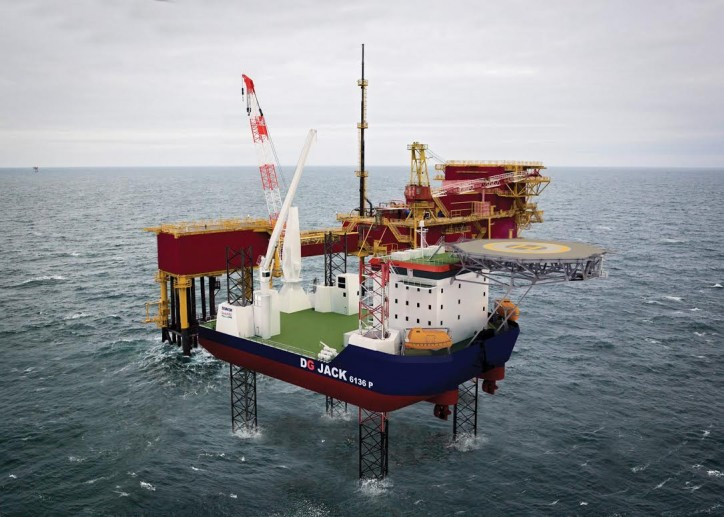 Damen introduces a new jack-up platform solution for the offshore industries - the DG JACK