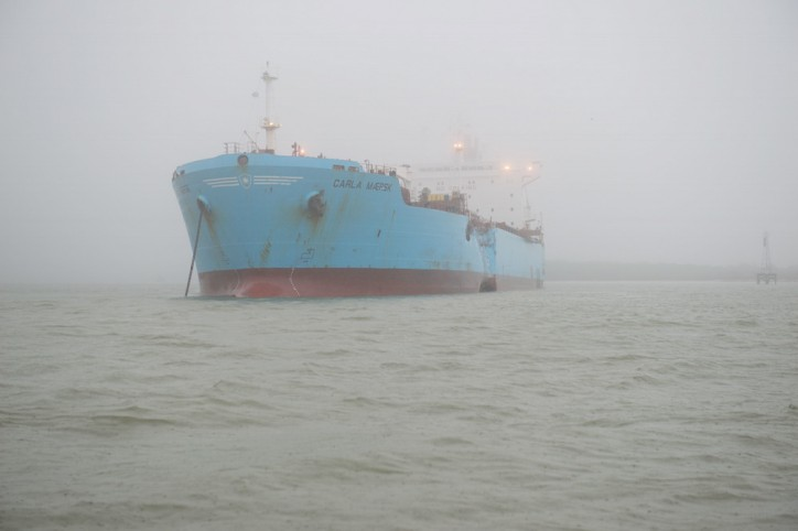 M/T Carla Maersk damaged Houston Ship Channel