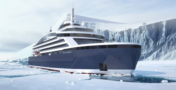 Ponant, Aker Arctic and Stirling Design Int. to cooperate for the building of luxury cruise icebreaking vessel