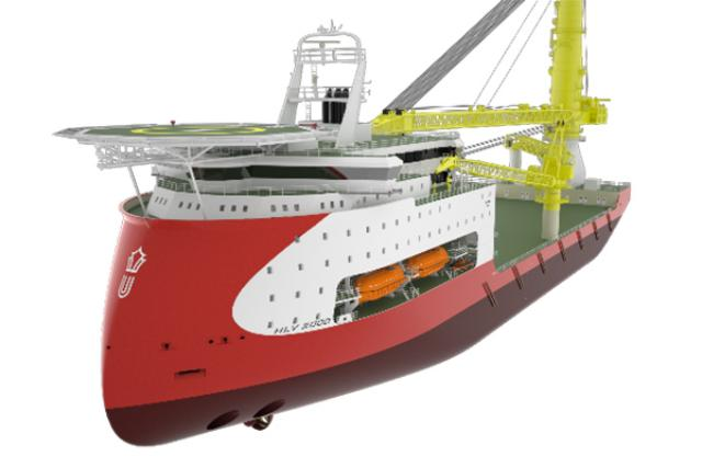 ULSTEIN HX104 heavy lift vessel design