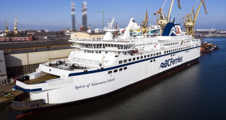 BC Ferries-owned Spirit of Vancouver Island converted to LNG