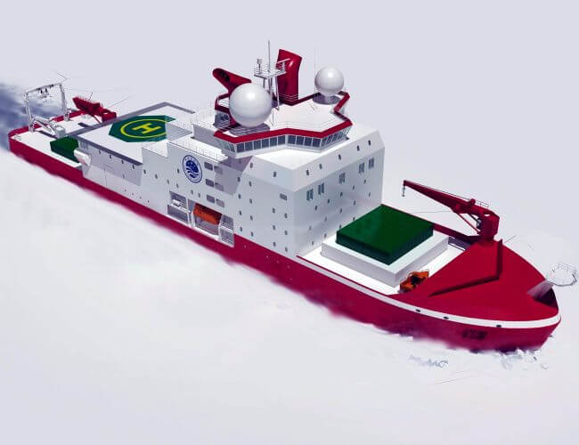 AKER Arctic Designed The New Chinese Polar Research Vessel
