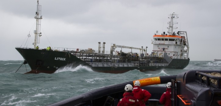 Tanker Lizrix Disabled off Calais, towed to Dover