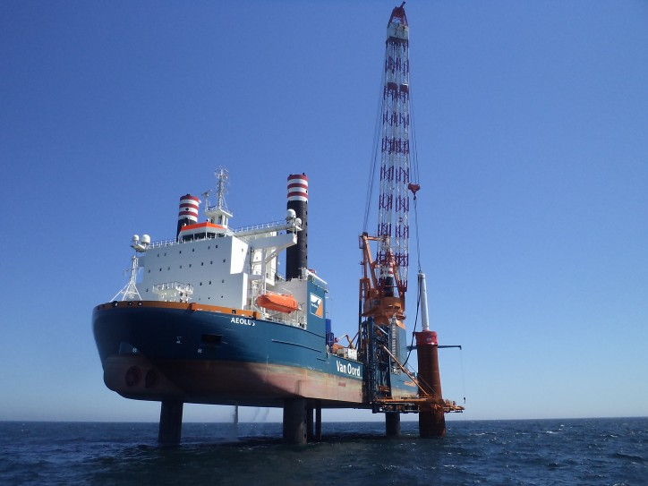 Van Oord completes the installation of the 150 ͭ ͪ foundation at the Gemini Wind Park in a record time of 3.5 months