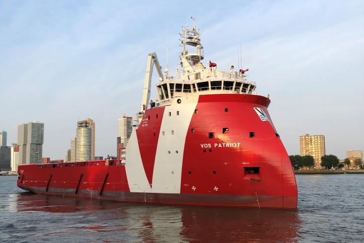 Vroon platform-supply vessel VOS Patriot named in a ceremony in Rotterdam