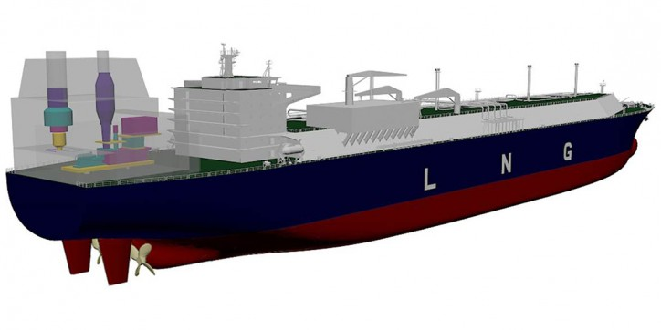 Hyundai Heavy Industries and GE sign agreement for the building of the world's first gas turbine-powered LNG carrier
