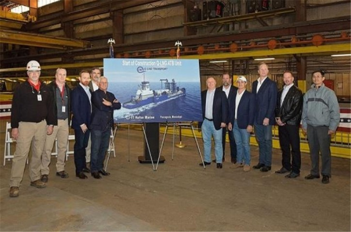 VT Halter Marine Starts Construction on America's First Offshore LNG ATB Unit