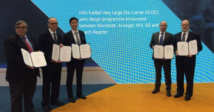 LNG-fuelled very large ore carrier (VLOC) joint design programme announced