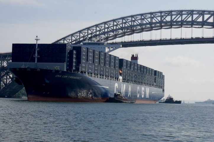US Coast Guard welcomes largest container ship to pass under new Bayonne Bridge