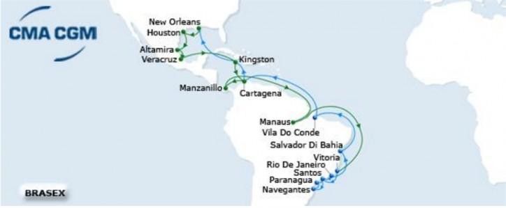 CMA CGM's Brazil Express service