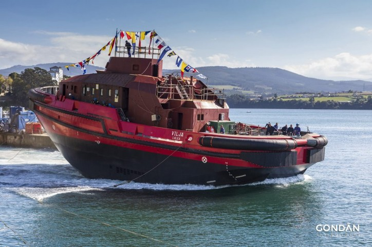 Powerful Tundra 3600-H Icebreaker Tug Designed for Swedish Port Launched in Spain
