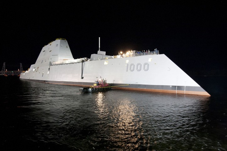 U.S. Navy's Largest Destroyer Ever Heads Out to Sea for First Time (VIDEO)