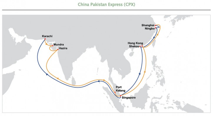 OOCL CPX (Existing) service - Port rotation