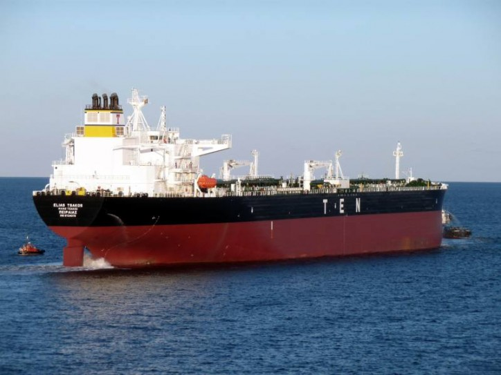TEN Announces Delivery And Long-Term Charter Of AFRAMAX Crude Tanker ELIAS TSAKOS