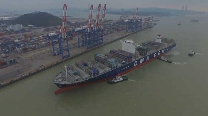 CMA CGM Benjamin Franklin: Biggest container ship to dock in the US (Video)