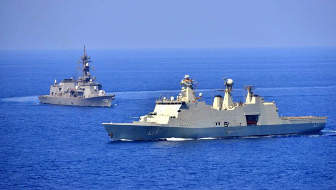 HDMS Esbern Snare and JS Takanami,