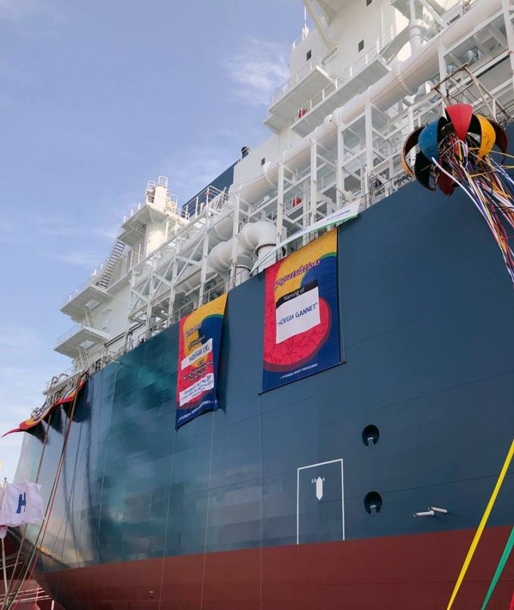Höegh LNG names ninth FSRU - Höegh Gannet