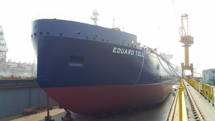 Spotted: Teekay's First Icebreaker LNG Carrier Launched