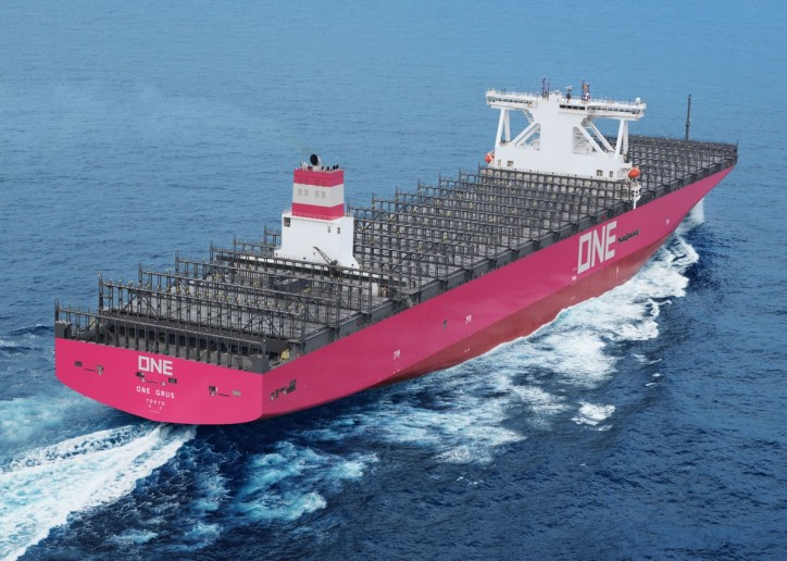 Ocean Network Express (ONE) announces delivery of 14,000-TEU Container ship ONE GRUS