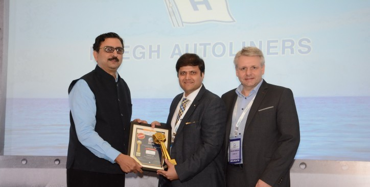"""Höegh awarded """"Shipping Line of the Year - RoRo Operator"""" in India"""