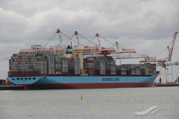 Container ship AOTEA Maersk arrives in New Zealand