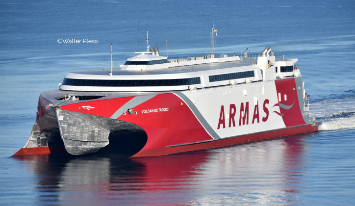 Incat Tasmania Exports New 111 metre ferry to Spain