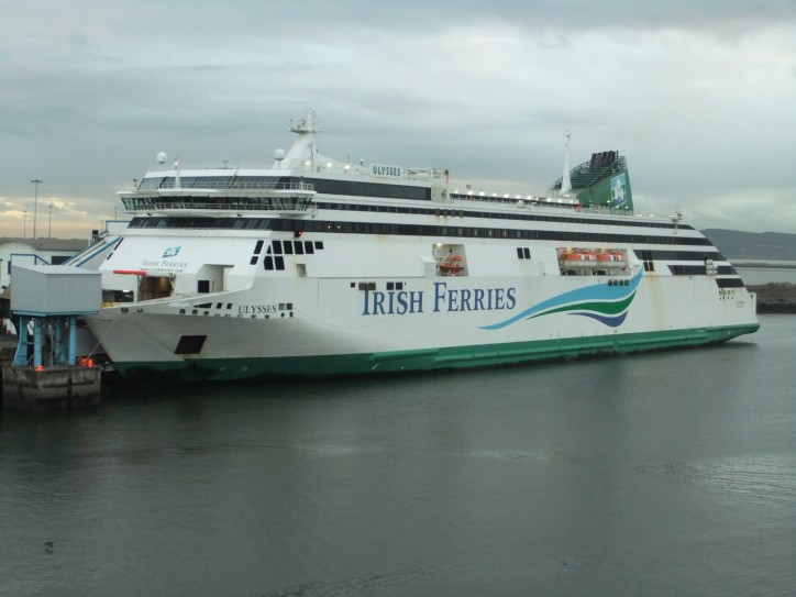 Engineer dies in an accident during repairs of car ferry MV Ulysses at Falmouth docks in Cornwall