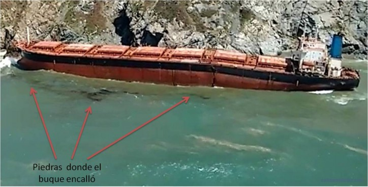 Bulk carrier LOS LLANITOS probably a total loss