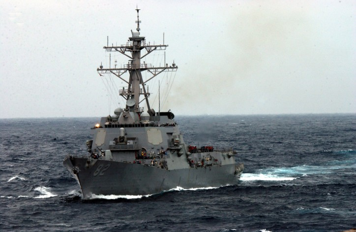 US Navy destroyer USS LASSEN passes disputed China islands