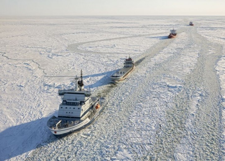 Icebreaker Kontio to the Bothnian Bay as the season's second icebreaker
