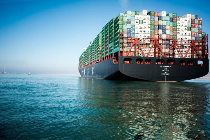 UASC celebrates the world's greenest vessel passing through the new Suez Canal