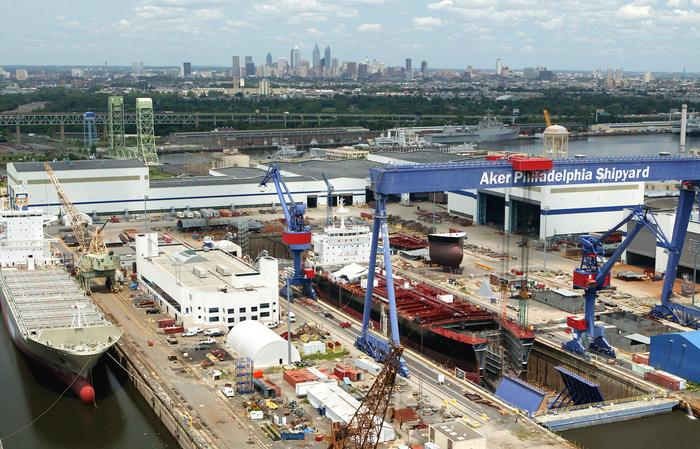 Philly Shipyard Holds Ceremonial Keel Laying for First Product Tanker for Kinder Morgan