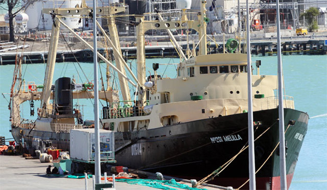Korean fishing vessel seized by creditor