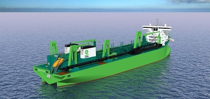 DEME books its third LNG-powered dredger from Royal IHC