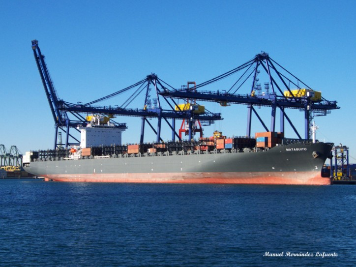 Containership Mataquito Breaks Down in Mexico