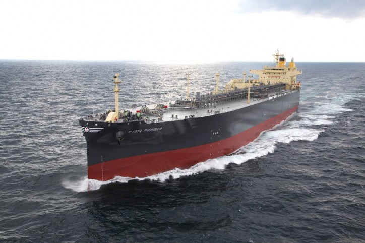 Kawasaki Heavy Industries Delivers First SOx Scrubber-equipped Vessel - LPG Carrier Pyxis Pioneer