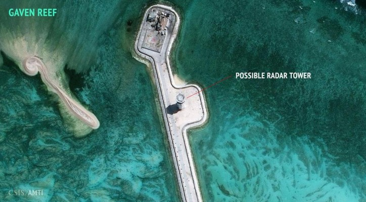The CSIS report also noted the possibility that China may be building radar systems on other islands in the South China Sea, including Gaven and Johnson South reefs.