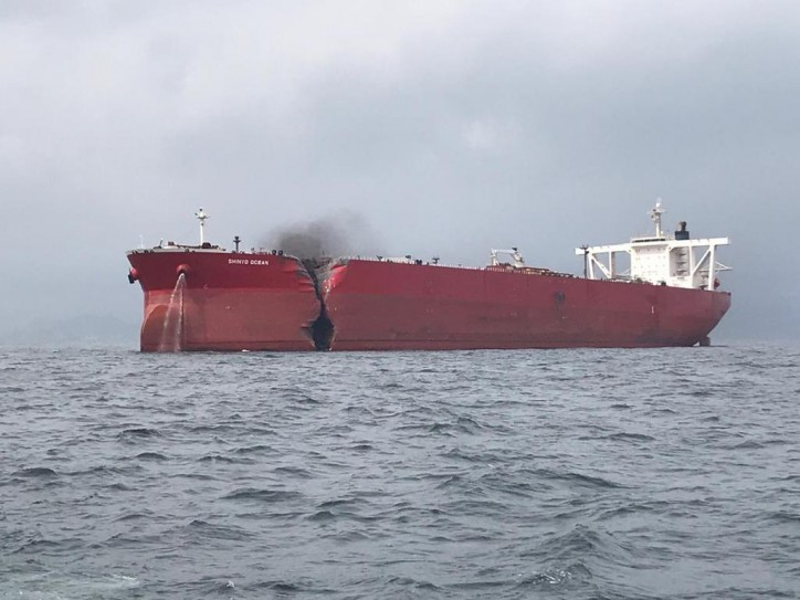 LNG Carrier Aseem Collides with VLCC Shinyo Ocean off Fujairah (Video)