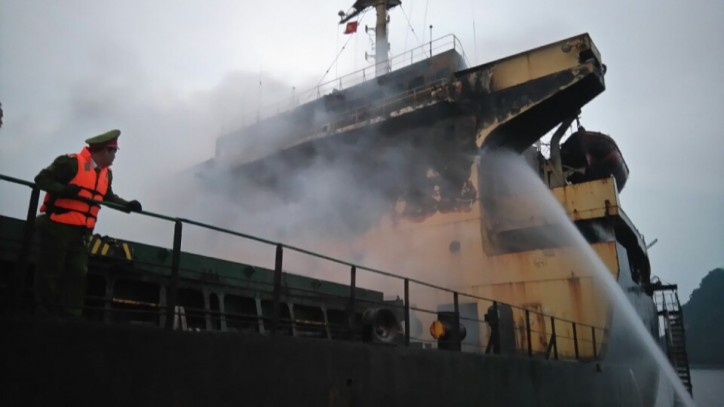 Bulker South Star was severely damaged after a fire on board on Feb 2 in Tonkin Bay, Vietnam.