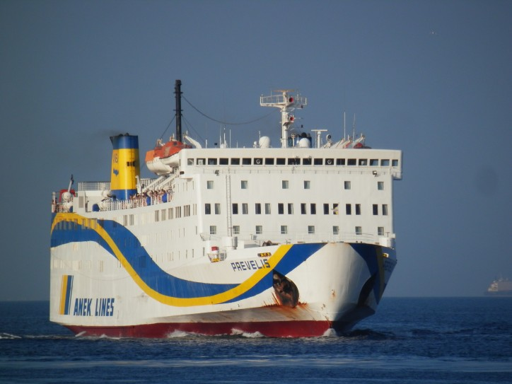 Ferry Prevelis hits pier in Greece
