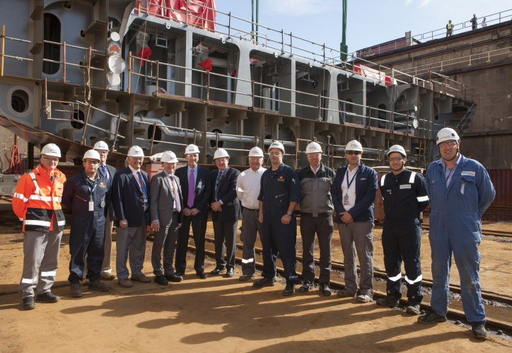 "Matson, Philly Shipyard Mark ""Aloha Class"" Ship Construction Milestone with Dock-Mounting Ceremony"
